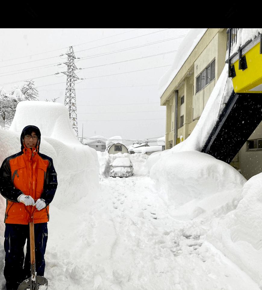 豪雪地帯ならではの装備が必要